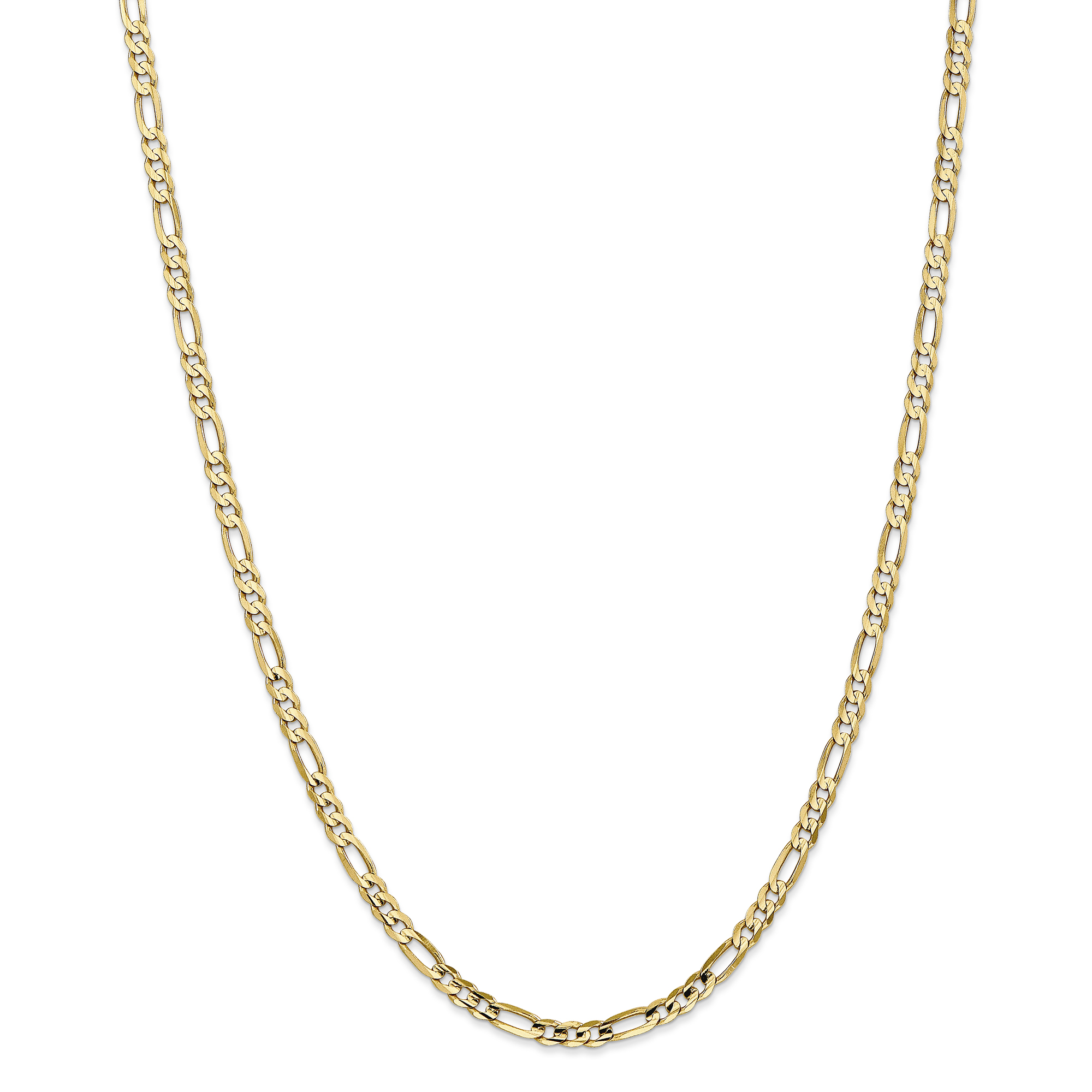 14K Yellow Gold 4mm Concave Open Figaro Chain - image 5 de 5