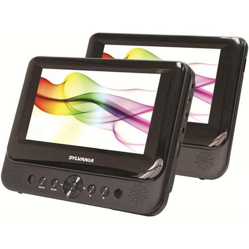 Sylvania 7  Dual Screen Portable DVD Player, Black - SDVD8716-COM