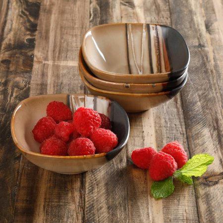 Better Homes And Gardens Bazaar Brown 4 Pack Fruit Bowl Set