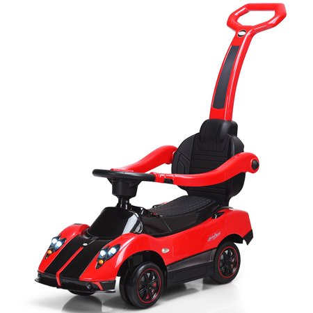 gymax pagani licensed electric kids ride on push car toddler handle stroller toy red. Black Bedroom Furniture Sets. Home Design Ideas