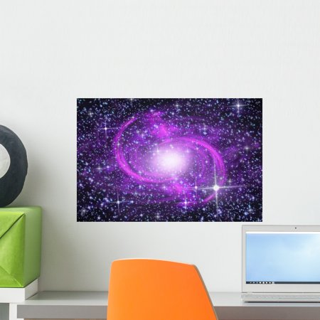 - Spiral Galaxy Wall Mural by Wallmonkeys Peel and Stick Graphic (18 in W x 12 in H) WM306719