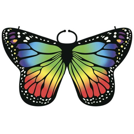 Children Girl Colorful Cloak Butterfly Cape Scarf Monarch Butterfly Cloak Wing Decoration Festive Party Supplies Monarch Butterfly Decorations