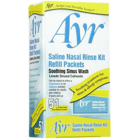 Nasal Powder - BF Ascher Ayr  Saline Nasal Rinse Kit, 51 ea