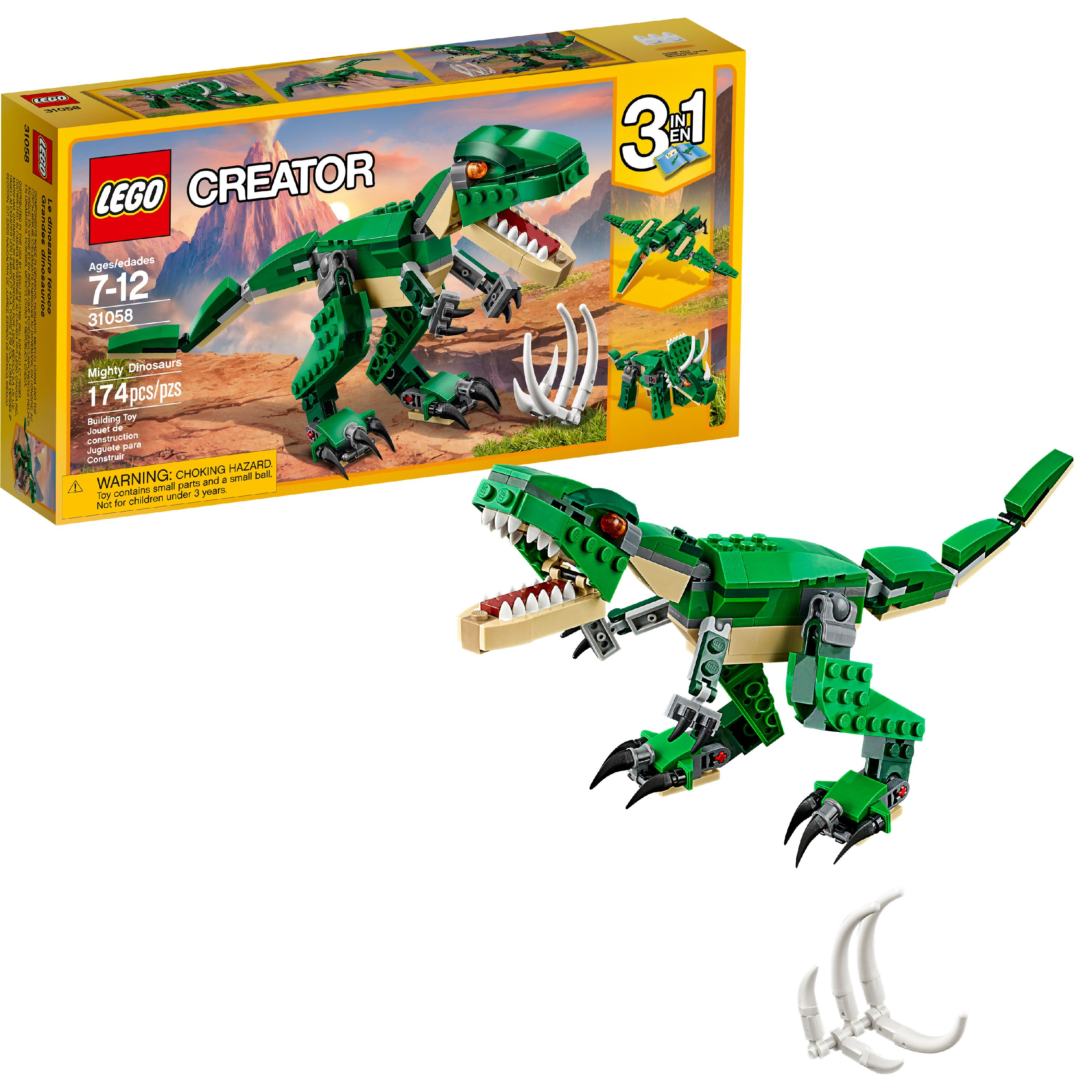 LEGO Creator Mighty Dinosaurs 31058 T Rex Building Toy (174 Pcs)