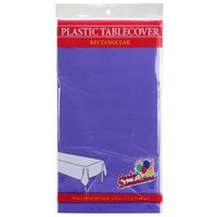"""Purple 54"""" x 108"""" Rectangular  Plastic Disposable Party  Tablelcoth"""