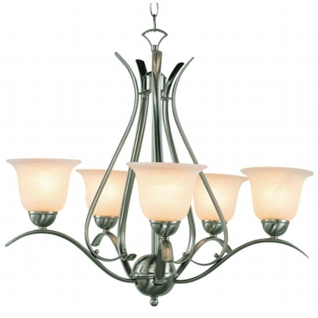 Trans Global Lighting 9285 ROB Contemporary 5 Light Chandelier - Rubbed Oil Bronze