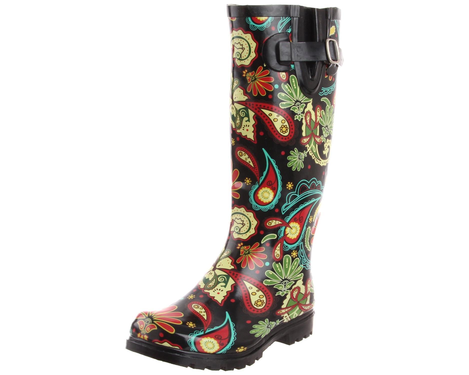 Nomad Paisley Black & Multi Rain Boot by Nomad