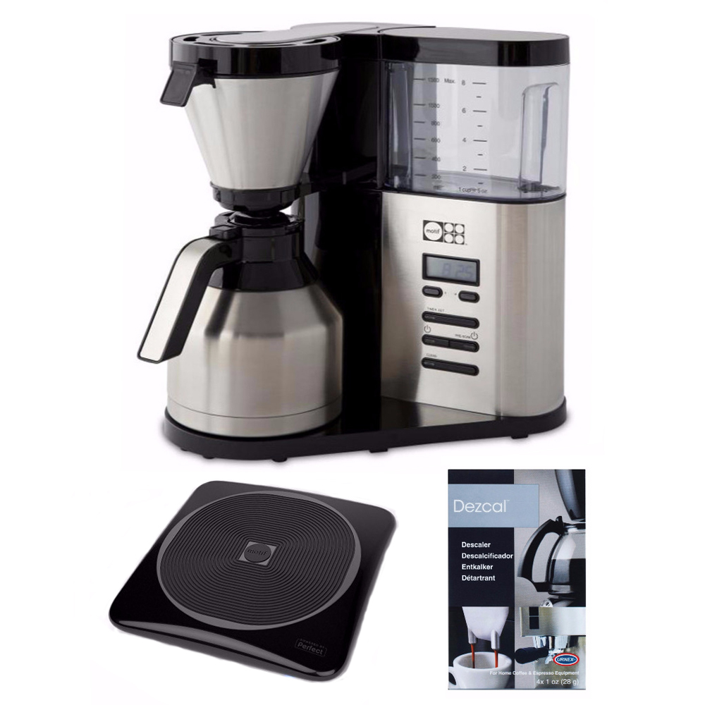 Motif Elements Coffee Brewer with Thermal Carafe and Accessory Bundle
