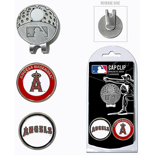 Team Golf MLB Los Angeles Angels Cap Clip With 2 Golf Ball Markers