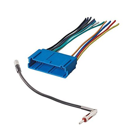CAR STEREO CD PLAYER WIRING HARNESS WIRE ADAPTER PLUG FOR AFTERMARKET RADIO FOR SELECT BUICK VEHICLES ()