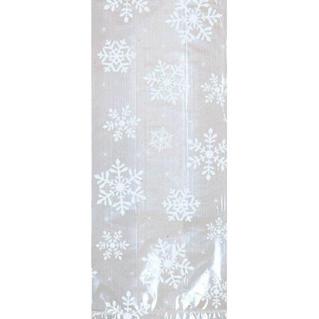 Christmas Holiday Large White Snowflake Frozen 20 ct Cello Bags Party (Frozen Party Boxes)