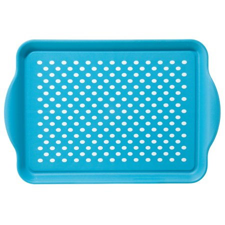 Oggi Non Skid Plastic Serving Tray with Rubber Grips ()