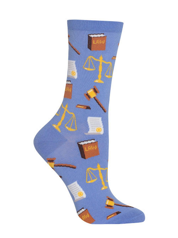 Lawyer Printed Crew Socks