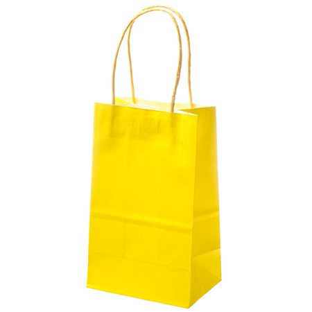 Small Yellow Kraft Gift Bags