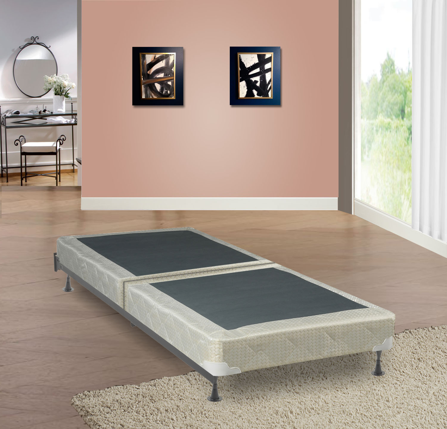"""Continental Sleep Fully Assembled 8"""" Split Box Spring For Mattress, Multiple Sizes"""