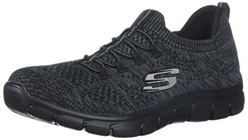 Skechers Sport Women's Empire Sharp Thinking Fashion Sneaker,Black Charcoal,5.5 M US