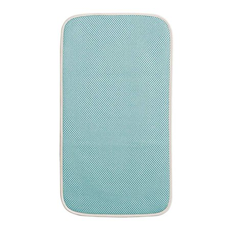 InterDesign iDry Mini Kitchen Countertop Absorbent Drying Mat, Blue/Ivory