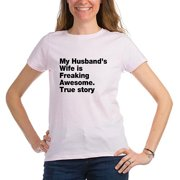 Womens My Husband's Freaking Awesome T-Shirt