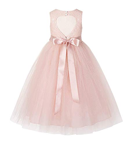 Heart Cutout Sequin Flower Girl Dress Special Occasion Dresses 172seq - Heart Rose Tattoo Dress