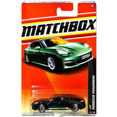 Porsche Panamera 2010 Matchbox Mbx Vip Series 1 64 Scale Die Cast Car  33   Metallic Dark Green Coupe Styled Luxury Sedan With Rear Hatch