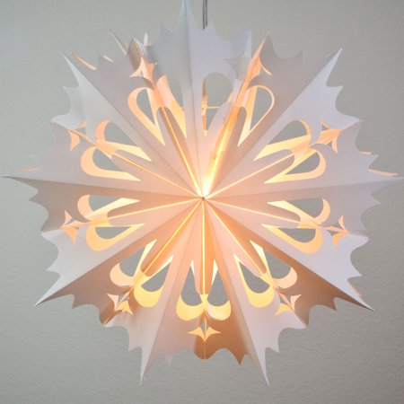 20 Quot White Winter Angel Snowflake Paper Star Lantern