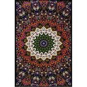 Sunshine Joy Indian Dark Star Elephant Tapestry - Orange & Blue - 60x90 Inches - Beach Sheet - Hanging Wall Art - 3D Rea