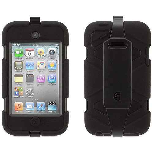 Griffin Griffin Survivor All-Terrain Case + Belt Clip for iPod touch 4th Gen., Extreme-duty case for 4th gen. iPod touch