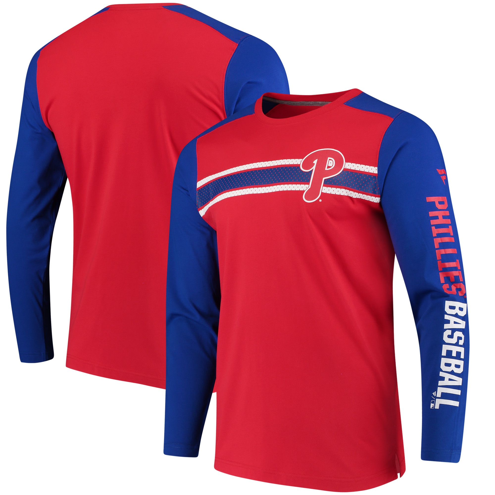 Philadelphia Phillies Fanatics Branded Iconic Long Sleeve T-Shirt - Red