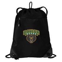Baylor University Drawstring Bag TWO SECTION Baylor Cinch Pack Backpack - Unique Mesh & Microfiber