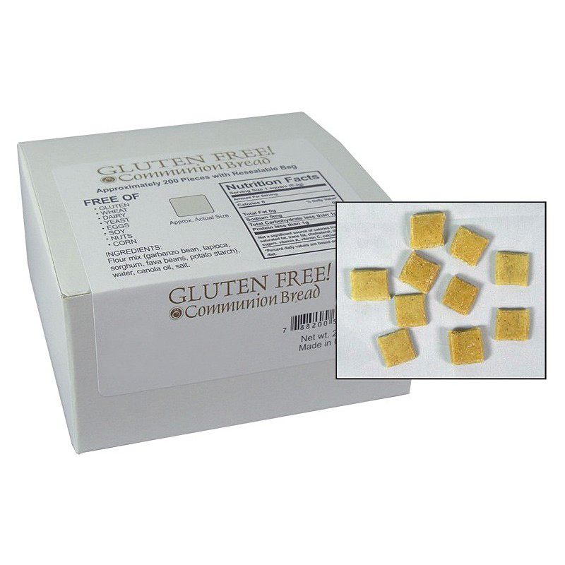 Gluten Free Communion Bread Squares - 200 Pieces