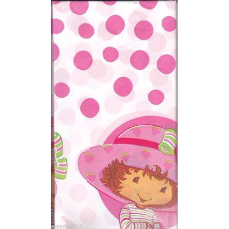 Strawberry Shortcake Plastic Table Cover (1ct) for $<!---->