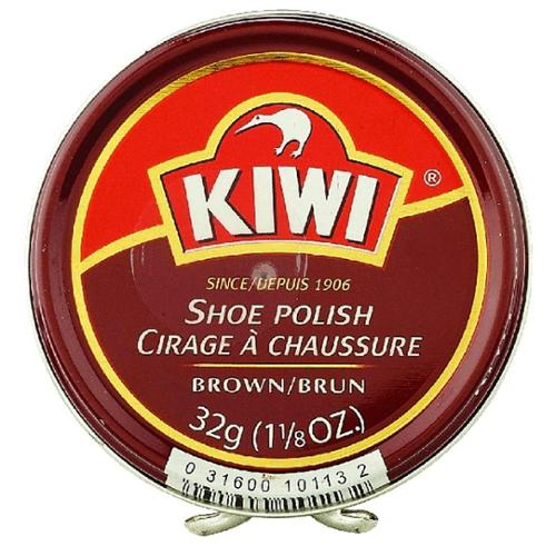 KIWI Shoe Polish, Brown 1.125 oz (Pack of 4)