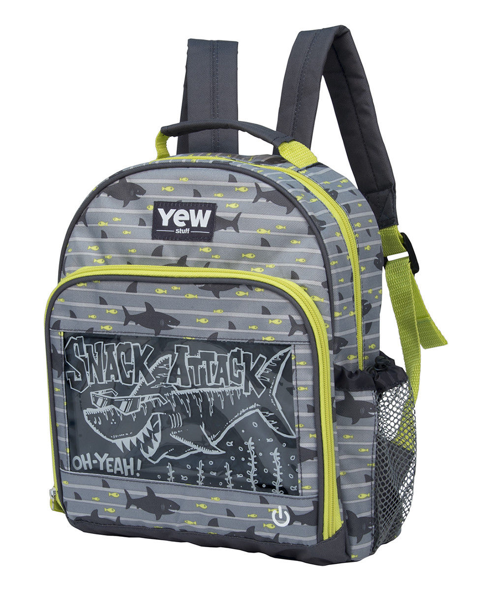 Yew Stuff POP Lights Light-Up Preschool Backpack- Blue Shark