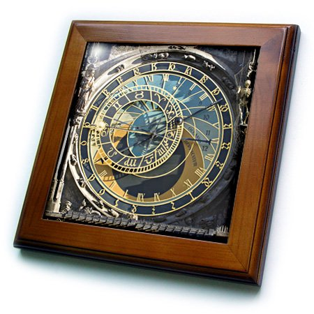 3dRose Astronomical Clock, Orloj, Prague, Czech Republic - EU06 THA0021 - Tom Haseltine - Framed Tile, 6 by (Czech Republic Plug)