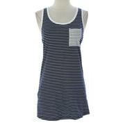 PRIORITIES Women's Stripe Bodycon Tank Dress Navy/White