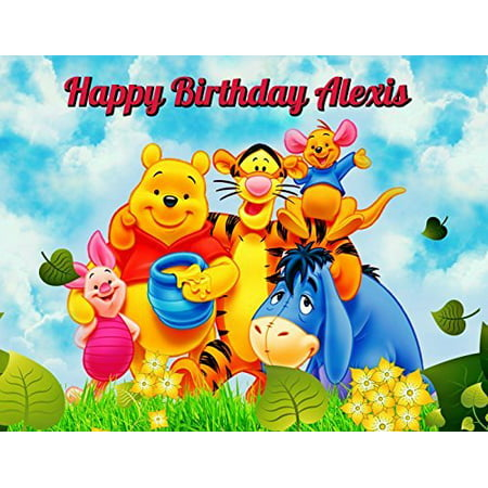 Winnie The Pooh Edible Image Photo Cake Topper Sheet Personalized Custom Customized Birthday Party Baby Shower - 1/4 Sheet - 78172
