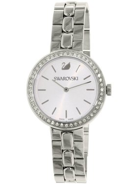Daytime 48 Crystals White Silver Dial Steel Watch - 5095600