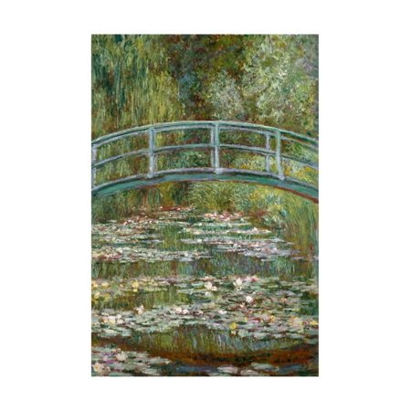 Bridge over a Pond of Water Lilies Print Wall Art By Claude (Bridge Over Pond)