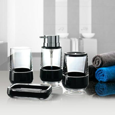 Immanuel band 4 piece bathroom accessory set for Bathroom 4 piece set