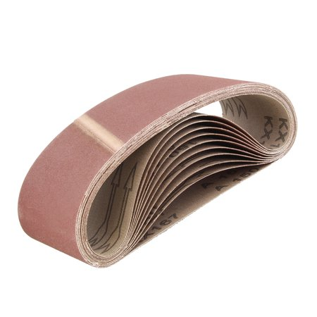 ABN   Belt Sand Paper Aluminum Oxide Sanding Belts 3x18 Inch (Best Sandpaper To Remove Paint From Metal)