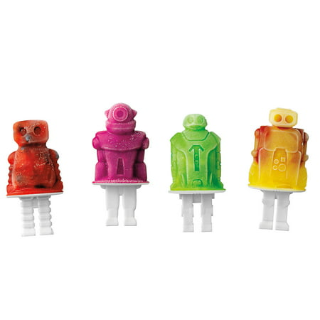 Silicone Robot Ice Pop Molds - Set Of Four