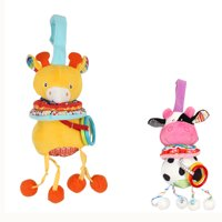 Baby Musical Crib Toy Infant Stroller Hanging Toy Kids Cartoon Activity Toys No Battery Requires Cow