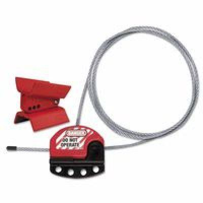 MASTER LOCK S3921 Butterfly Valve Lockout,Universal,Red