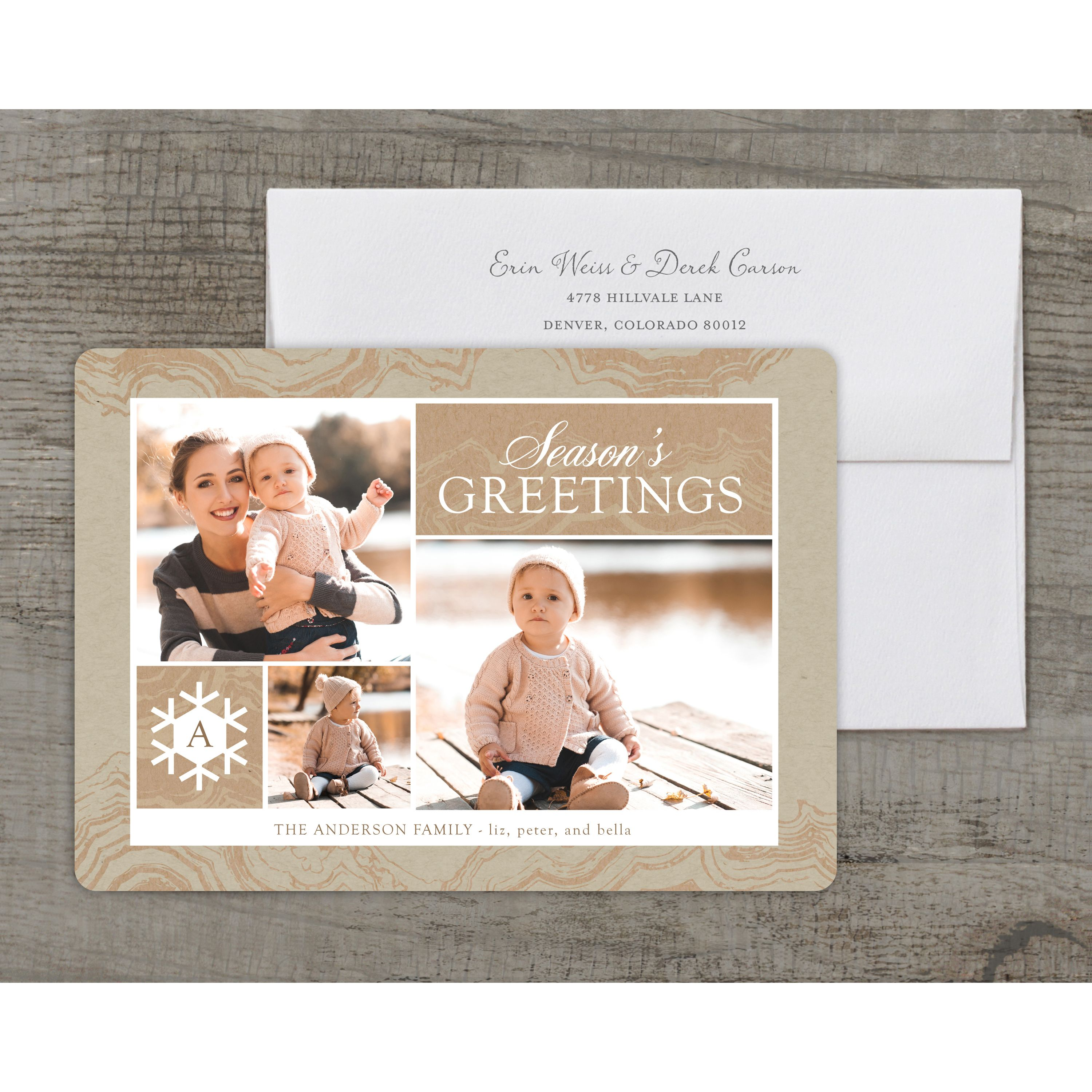 Frosty Season - Deluxe 5x7 Personalized Holiday Holiday Card