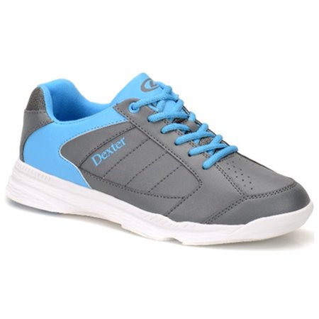 Dexter Mens Ricky IV Bowling Shoes- Grey/Blue (Dexter Bowling Shoes)