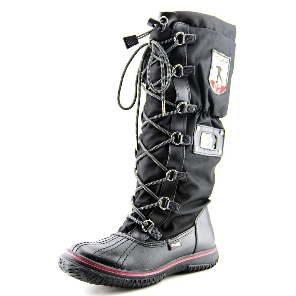 Pajar Grip Women  Round Toe Canvas Black Snow Boot