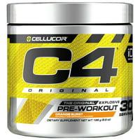 Cellucor C4 Original Pre Workout Powder, Sugar Free Preworkout Energy Supplement for Men & Women, 150mg Caffeine + Beta Alanine + Creatine, Orange Burst, 30 Servings