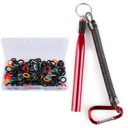 Wacky Worm Rig Tool and 150 PCS O-Ring Kits for 3