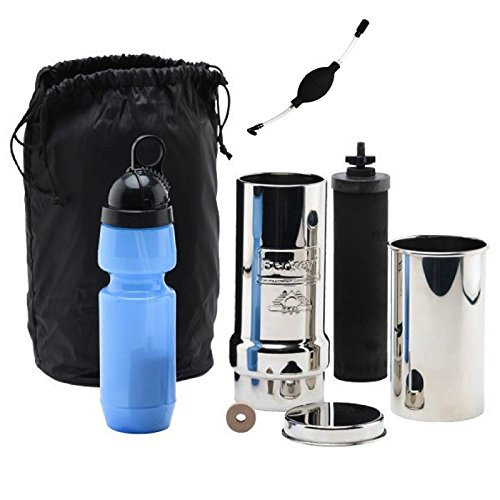Go Berkey Kit: Includes Stainless Steel Portable Water Filter System