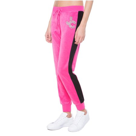 Juicy Couture Velour Suit (JUICY COUTURE BLACK LABEL Women's Velour Gems Zuma Pant, Couture Pink)